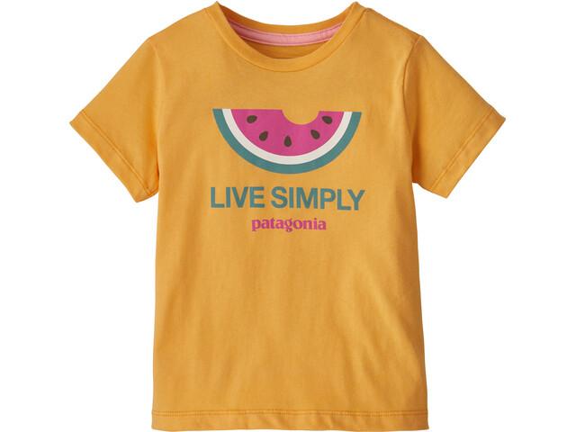 Patagonia Live Simply Organic T-Shirt Enfant, live simply melon/saffron